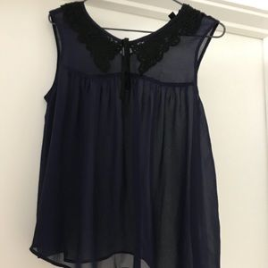 Topshop sleeveless lace top size 6